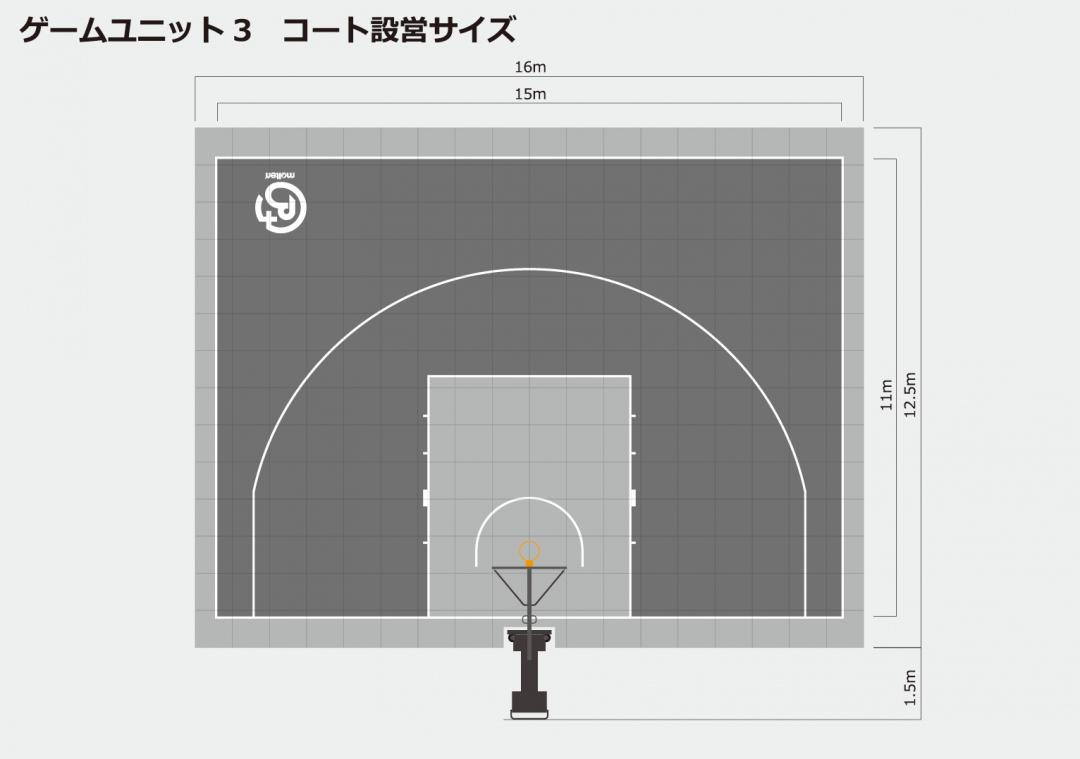 ゲームユニット3 コート設営サイズ