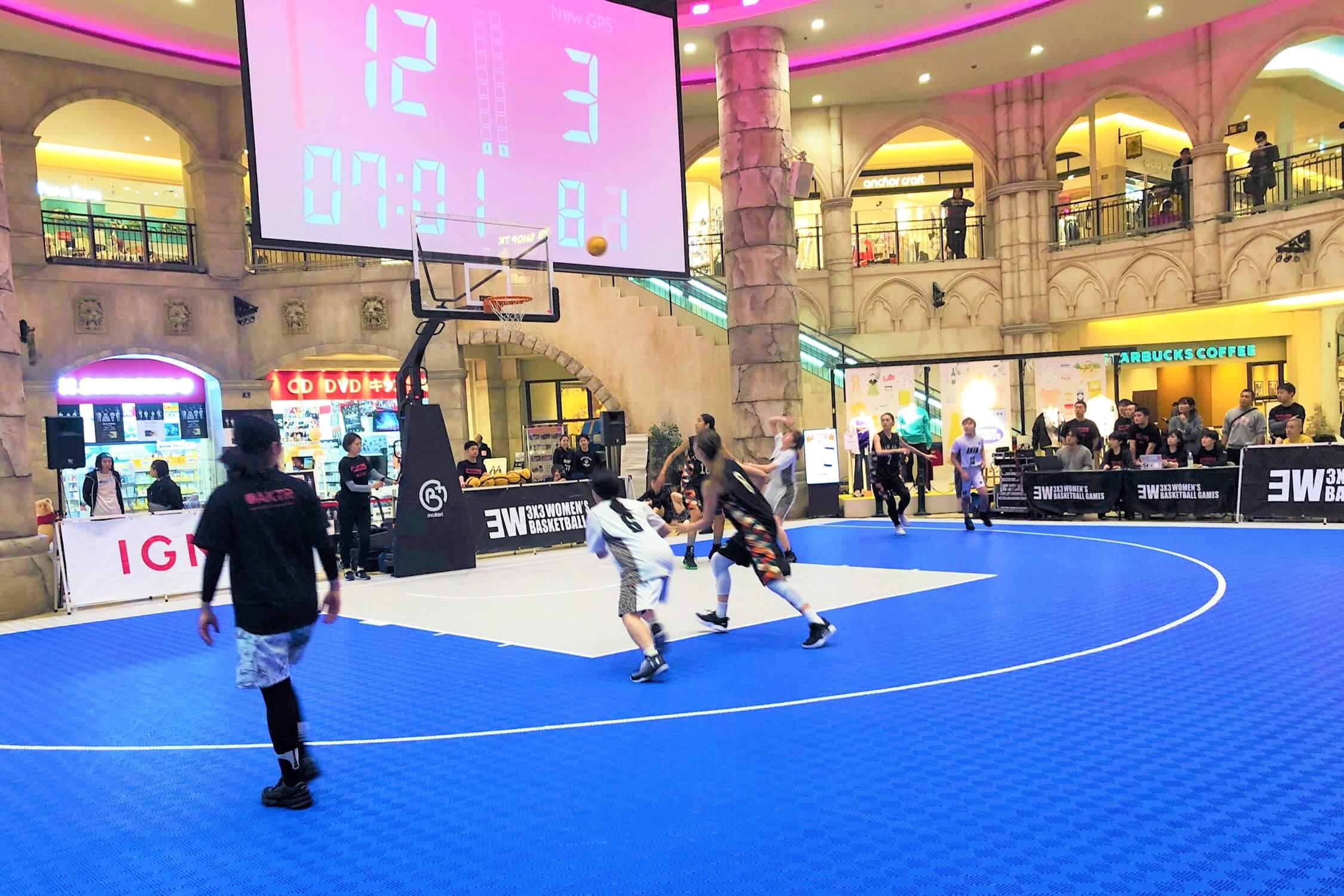 3x3女子バスケットトーナメント トリプルダブル ROUND6