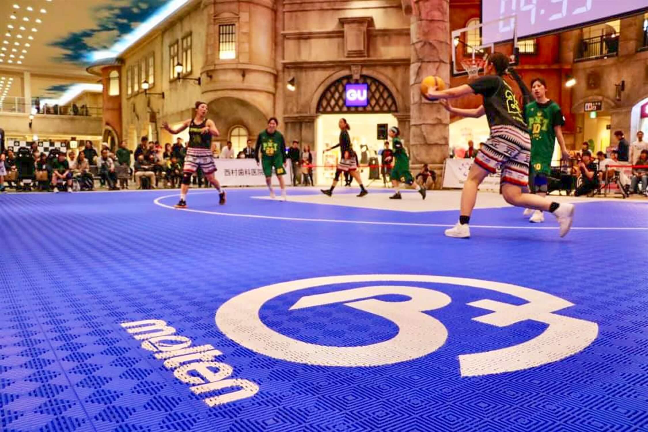 3x3女子バスケットトーナメント トリプルダブル ROUND7